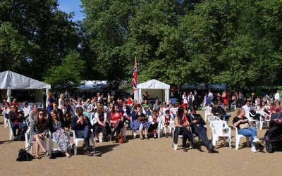 Cashless festival celebration in Southwark Park